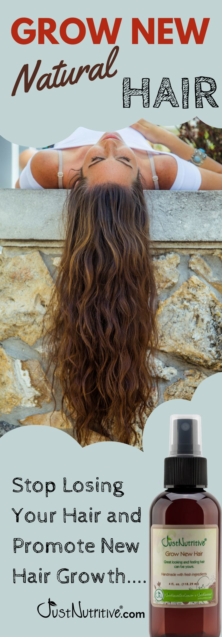 This natural grow new hair formula is healing, moisturizing and will leave your ...