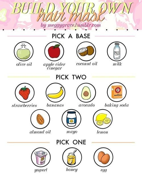 build your own hair masks More