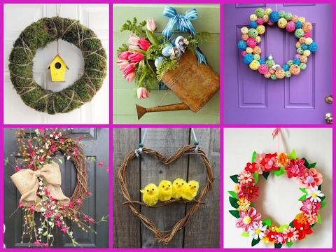 Diy Projects Video 25 Cute Spring Wreath Ideas Diy Home Decor Diyall Net Home Of Diy Craft Ideas Inspiration Diy Projects Craft Ideas How To S For Home