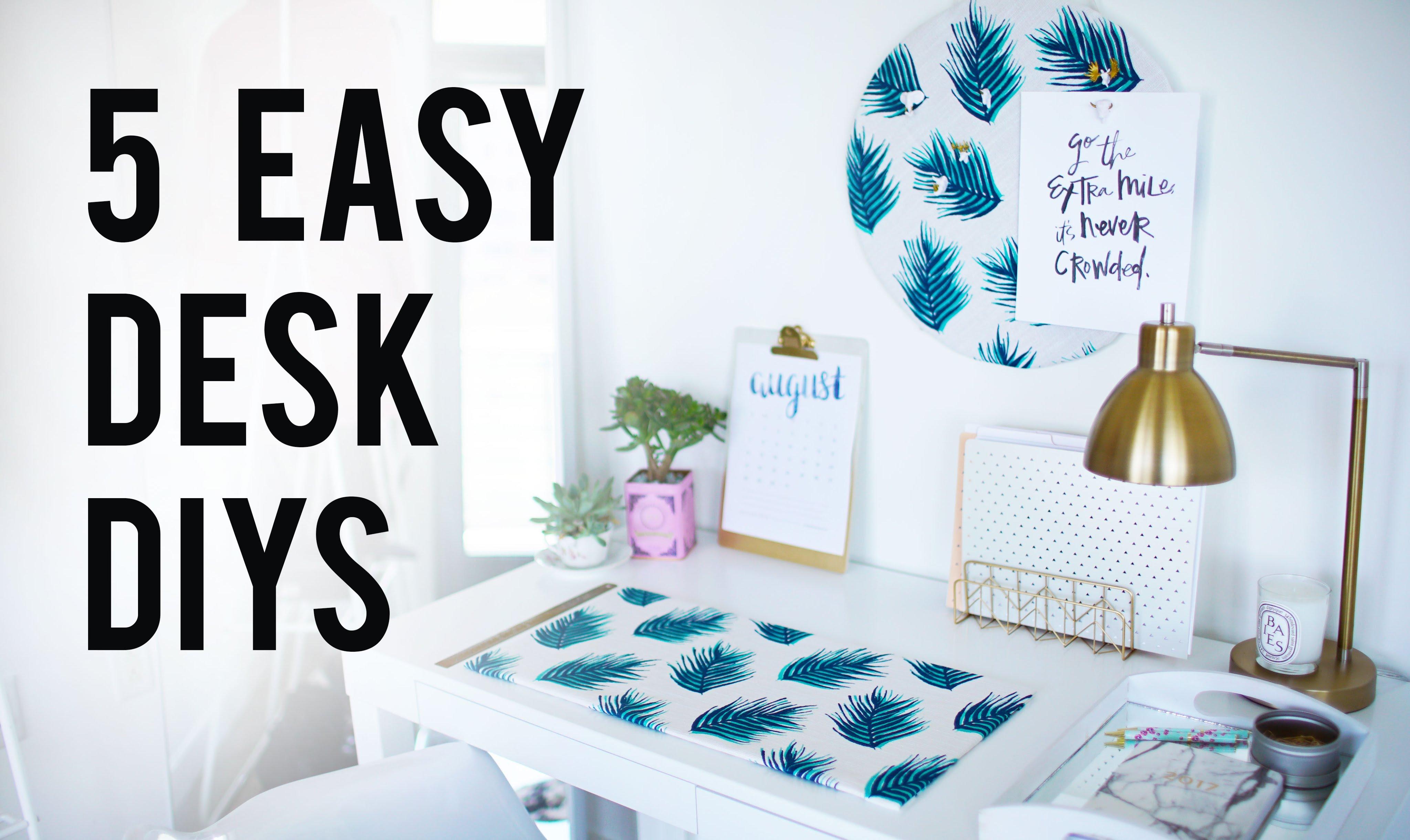 Diy Projects Video 5 Easy Diy Desk Decor Organization