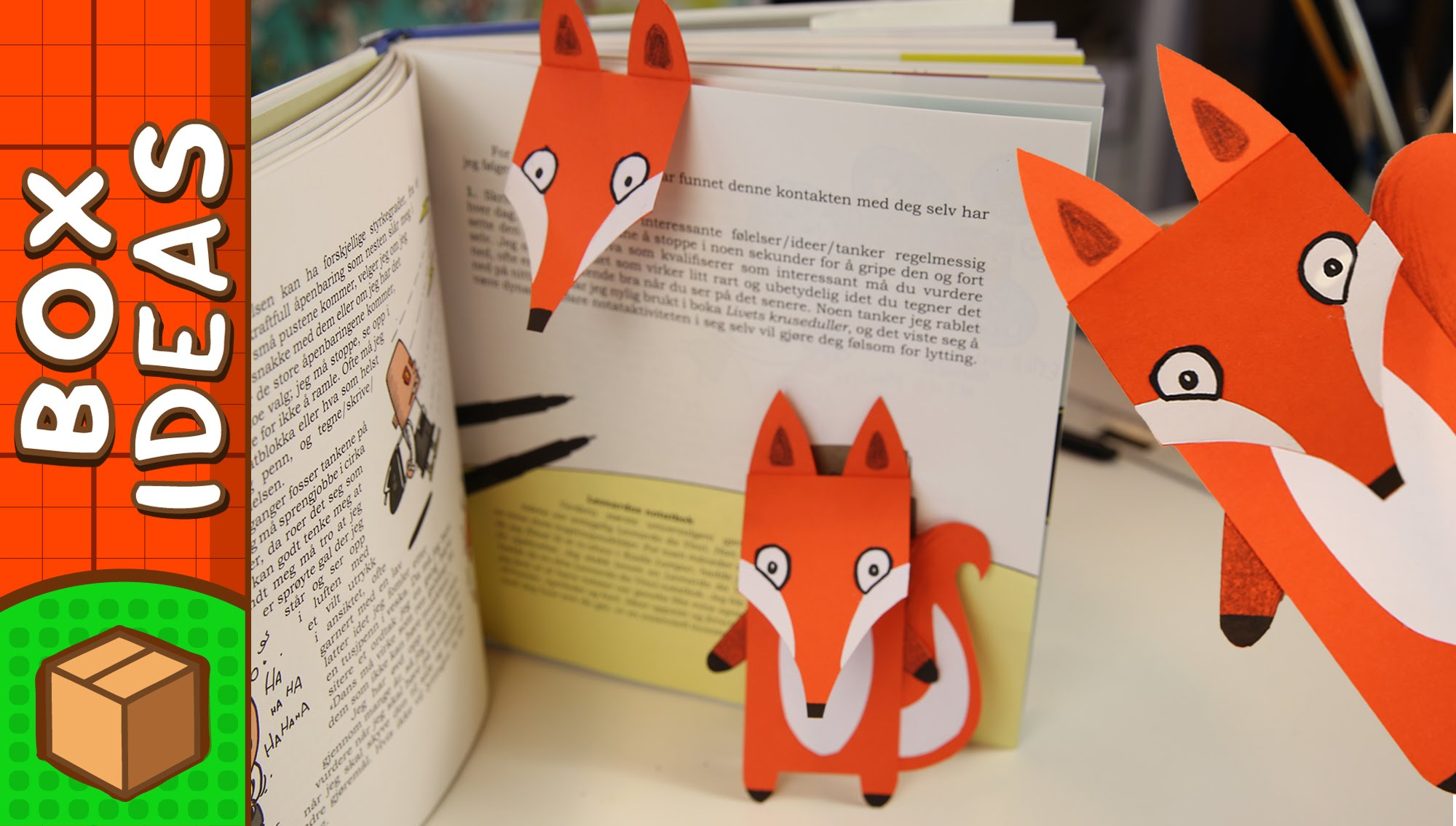 Diy Projects Video Diy Bookmark Fox Craft Ideas For Kids On Box