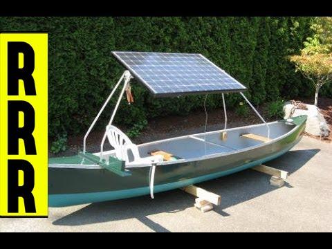 DIY Projects Video: DIY ~ Solar Power Canoe NEAT!!! ~Do it