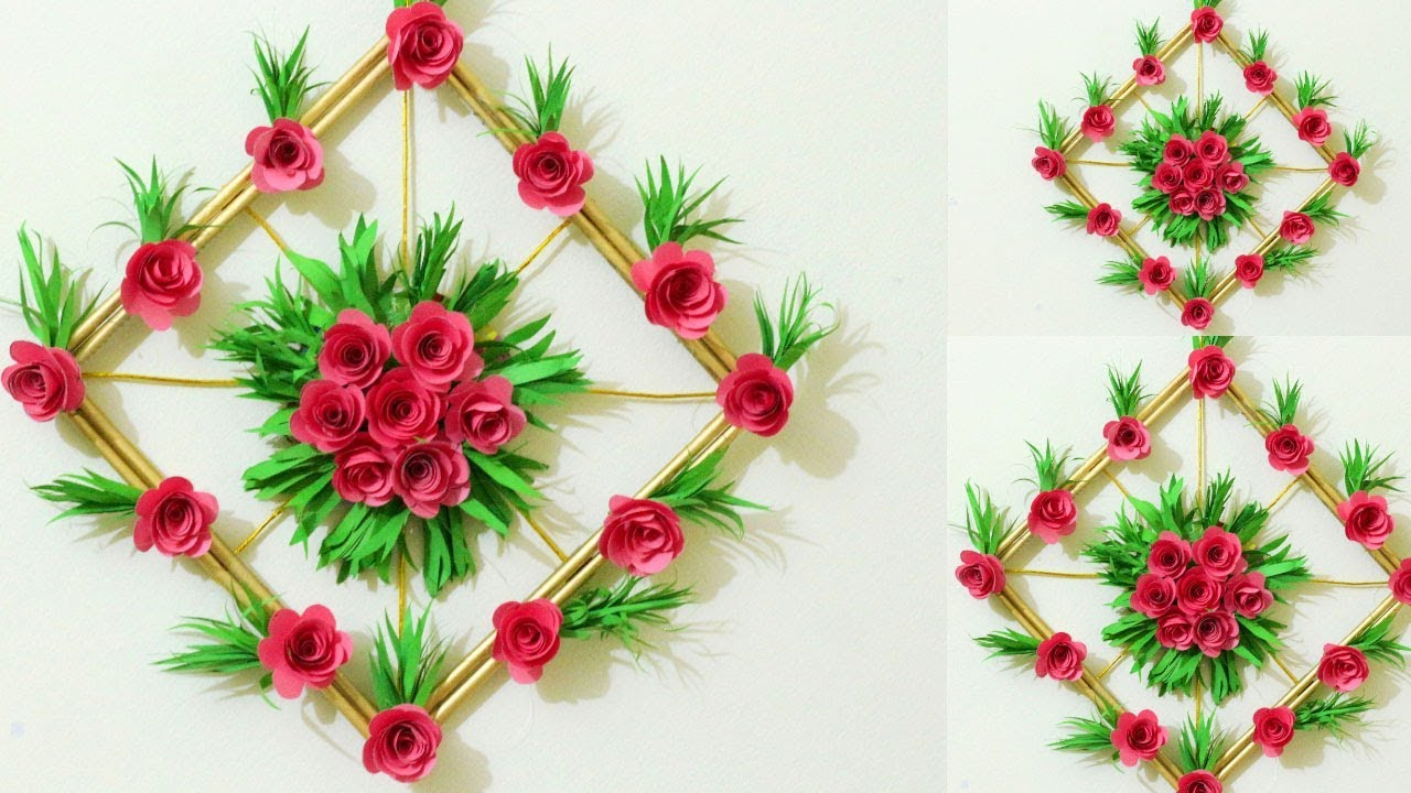 Diy Projects Video Diy Simple Home Decor Paper Flower Wall Decorations Easy Wall Decoration Ideas Diyall Net Home Of Diy Craft Ideas Inspiration Diy Projects Craft Ideas