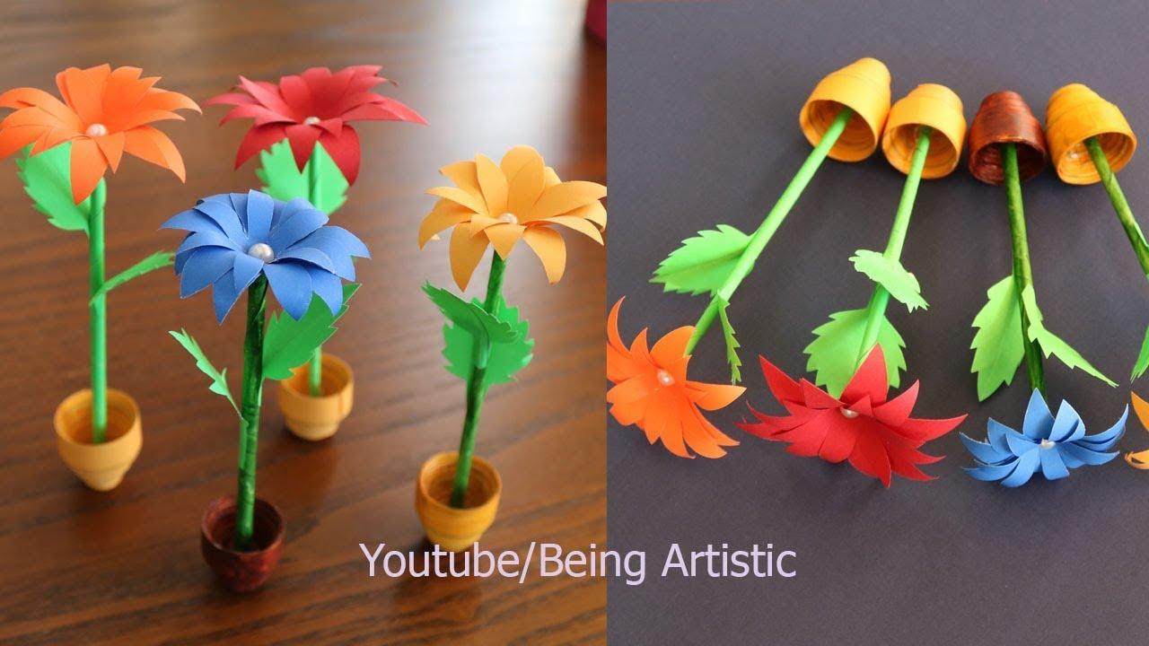 Newspaper Flower Pot Video Flowers Healthy