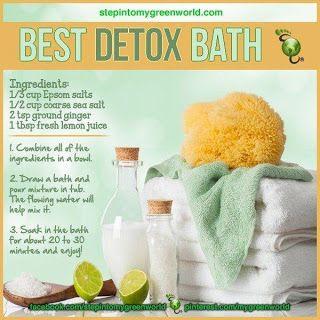 3 Natural Detox Bath Recipes