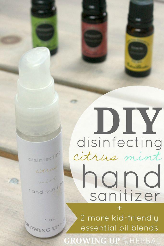DIY Disinfecting Citrus Mint Hand Sanitizer + 2 More Kid-Friendly Essential Oil ...