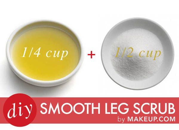 DIY Smooth Leg Scrub- this is my best-kept secret for silky smooth legs all summ...