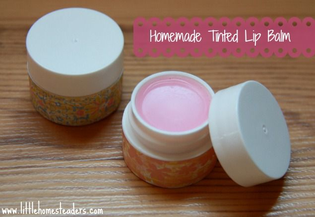Five Little Homesteaders: Homemade Tinted Lip Balm