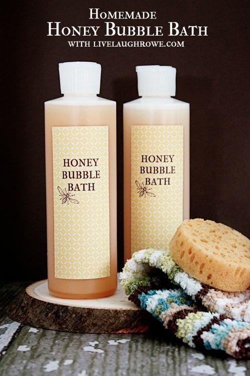 Diy Skin Care Tips Homemade Honey Bubble Bath With Livelaughrowe