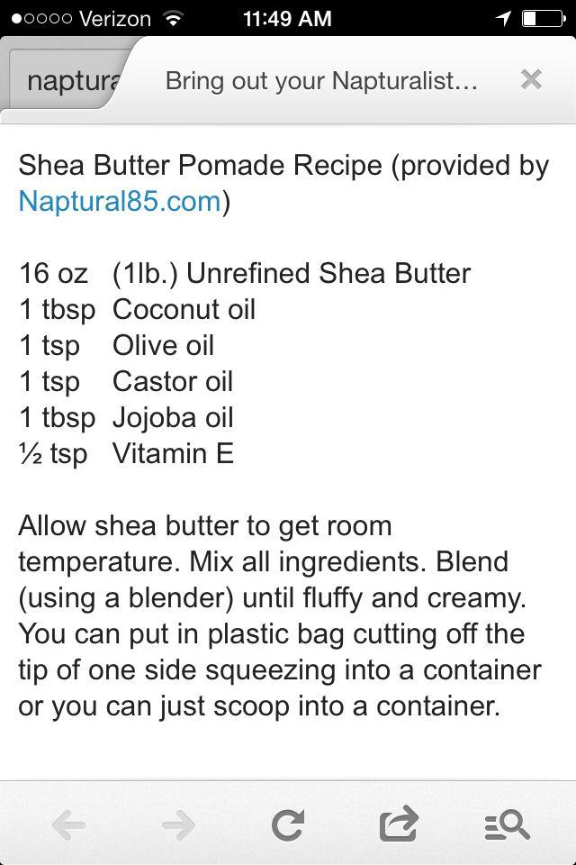 Diy Skin Care Tips Naptural85 Shea Butter Pomade Diyall Net