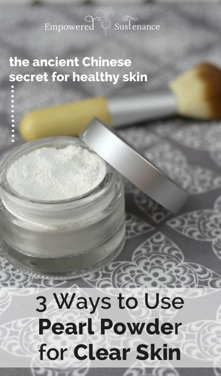 Pearl powder can replace your mineral makeup, and it is super healthy for your s...