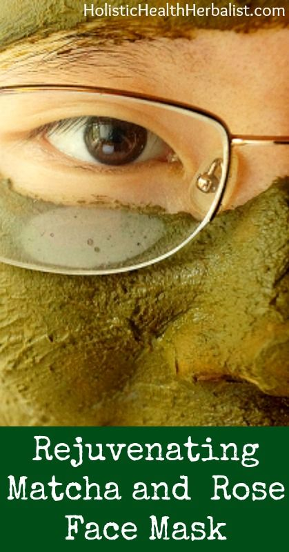 Rejuvenating Matcha and Rose Face Mask holistichealthher... #beauty #skincare #m...