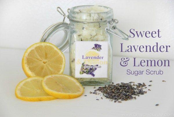 Simple DIY Sugar Scrub Recipes (you can do) - Sweet Lavender Lemon Scrub - #lave...