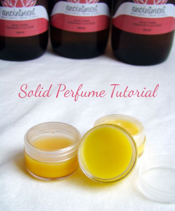 Solid Perfume Tutorial using coconut oil, beeswax, and essential oils.