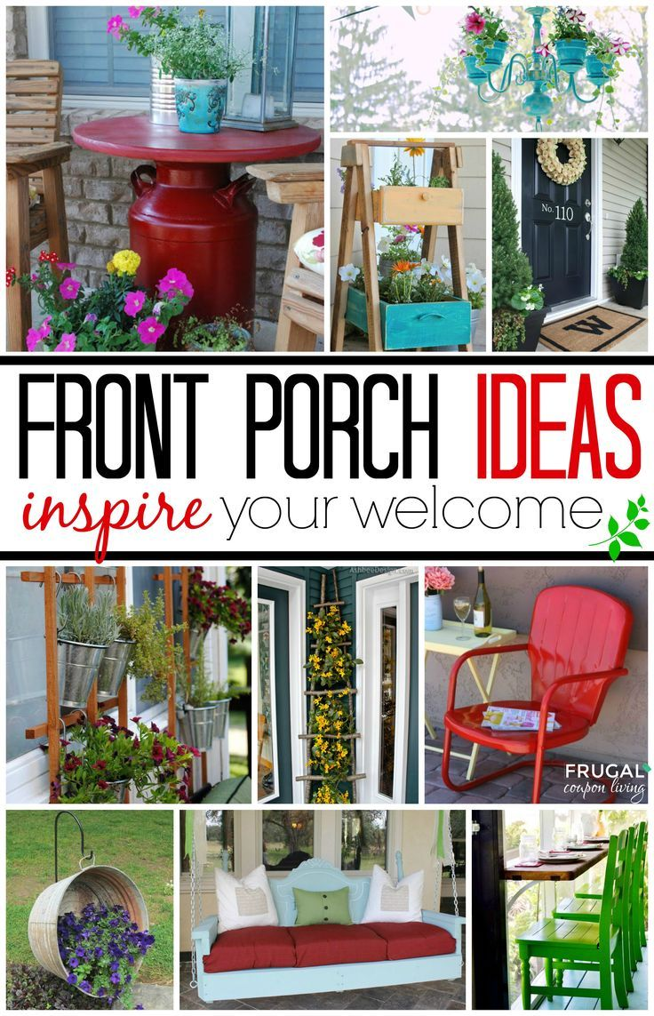 Front Porch Ideas - Inspire Your Welcome This Spring! Spring cleaning ideas and ...