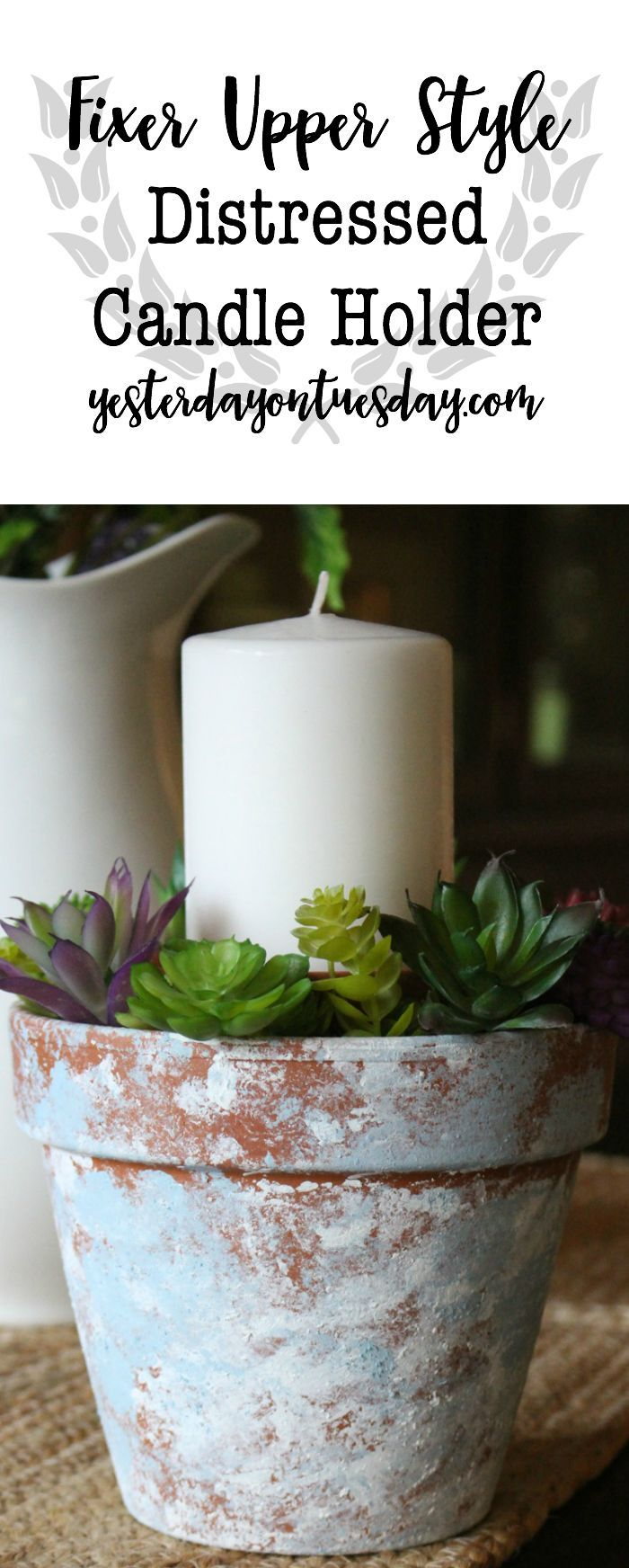 Diy Crafts Modern Farmhouse Candle Holder Add Some Modern Farmhouse Charm With This Simple Diyall Net Home Of Diy Craft Ideas Inspiration Diy Projects Craft Ideas How