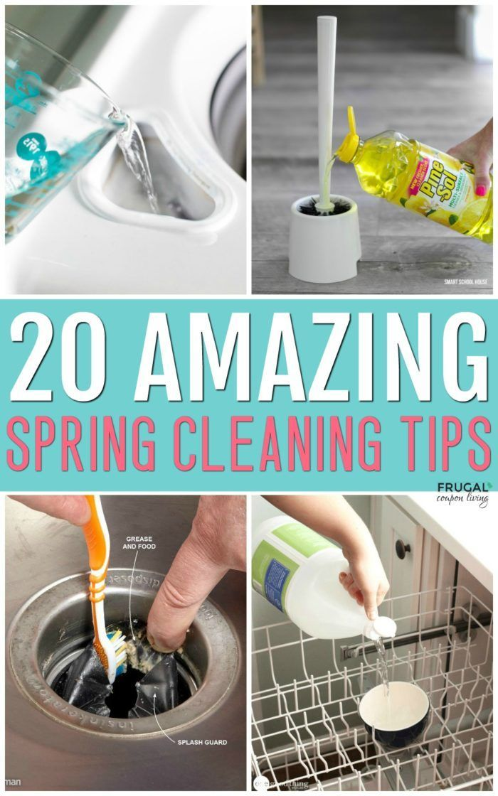 Spring Cleaning Tips and Hacks - Open the windows, let the sun shine in, and tac...
