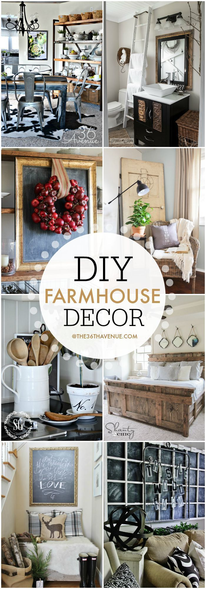 DIY Crafts : Home Decor - DIY Farmhouse Decor Ideas at the36thavenue ...