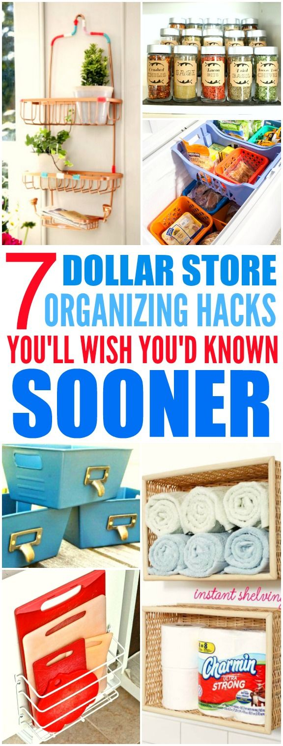 These 7 Dollar Store hacks from the experts are THE BEST! I'm so glad I found th...