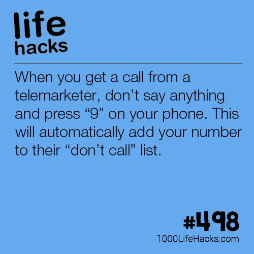 """How To Put Yourself On The """"Do Not Call"""" List   1000 Life Hacks   Bloglovin..."""