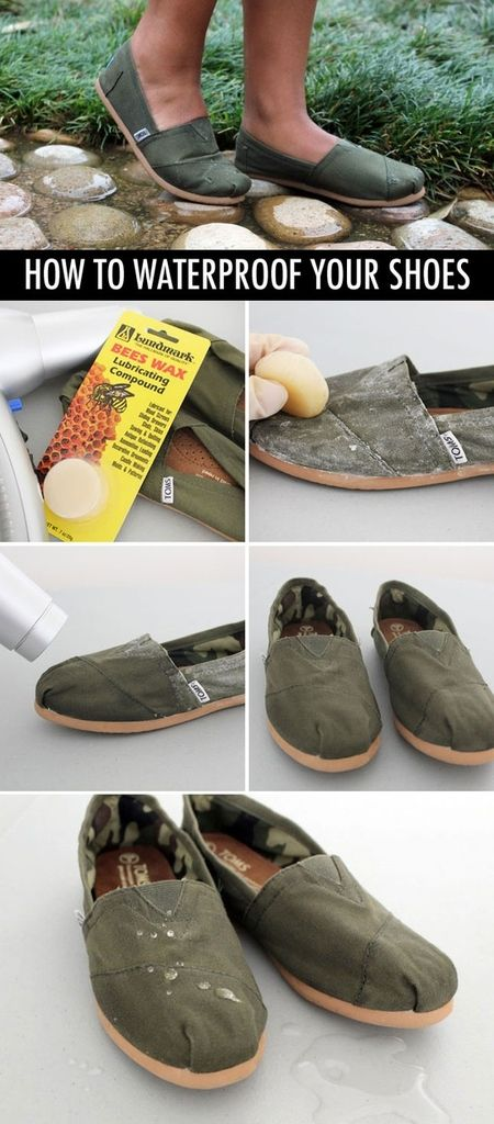 100 Life Hacks That Make Life Easier  how to waterproof your shoes