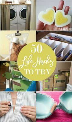 50 life hacks to try- lots of DIY painting projects included.