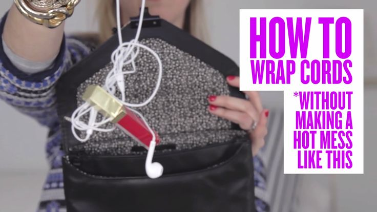 A @PureWow hack for rolling all the cords in your life into neat little bundles....