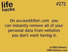 Great site to use for deleting personal information from social sites that you d...