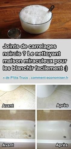 Joints de Carrelages Noircis ? Le Nettoyant Miraculeux Pour les Blanchir Facilem...
