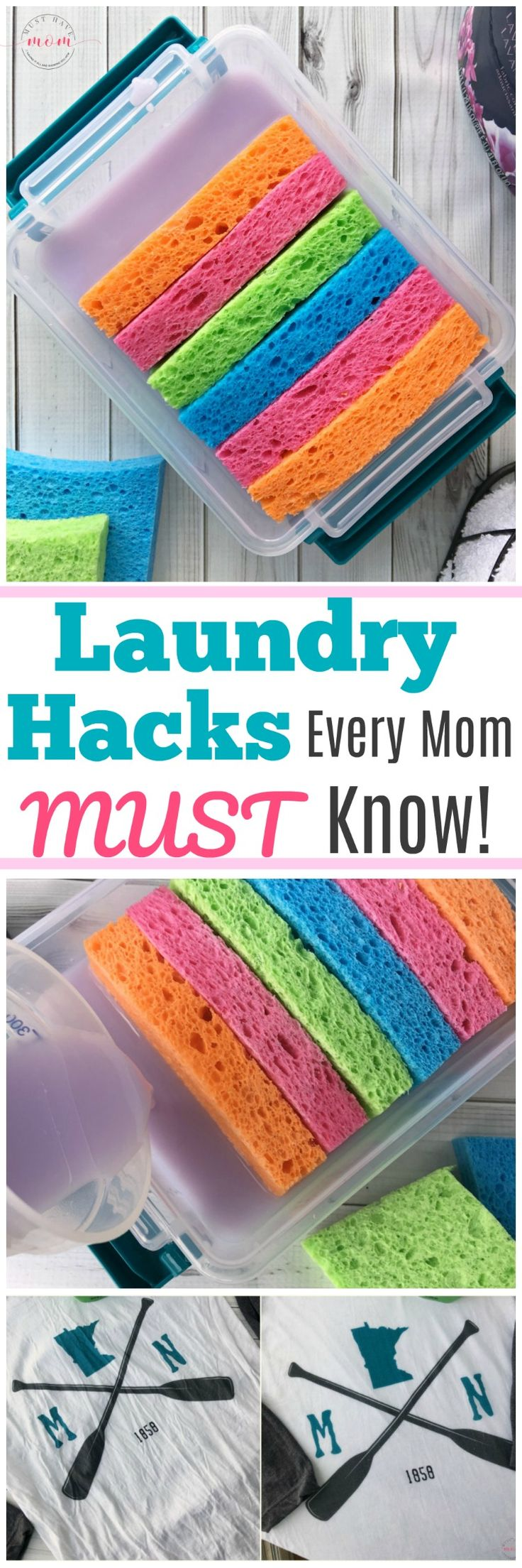 Laundry hacks every mom MUST know! How to get wrinkles out of clothes fast + mak...