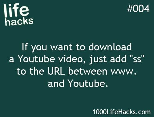 Life Hacks YouTube Download from 1000lifehacks.com