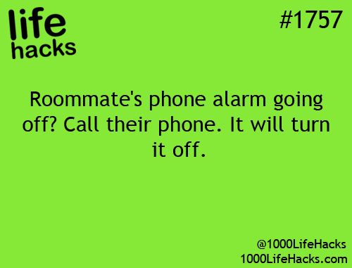 Roomate phone is ringing?