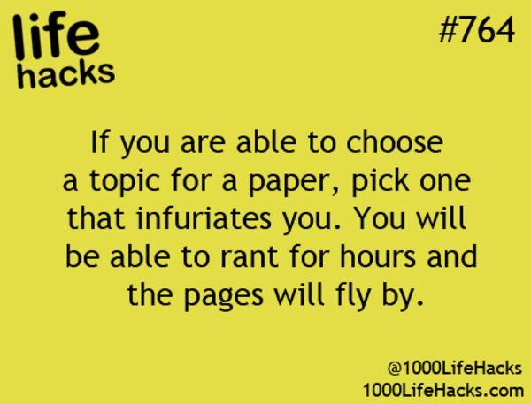 Topics that irritate you