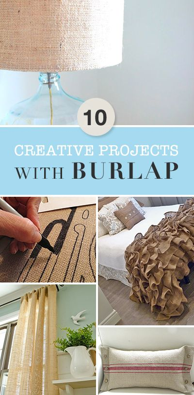 10 Creative Projects with Burlap • A wonderful round-up of great ideas, tutori...