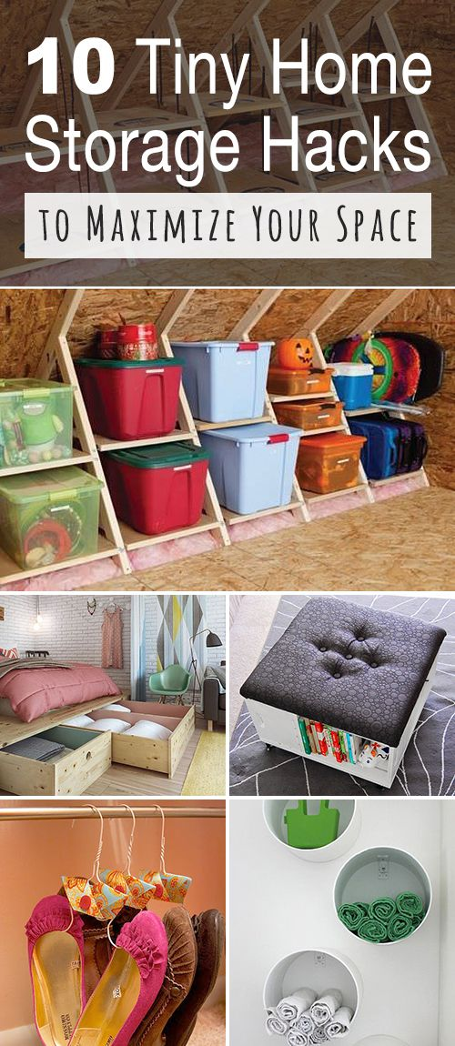 10 Tiny Home Storage Hacks to Maximize Your Space! • If you have a tiny home, ...