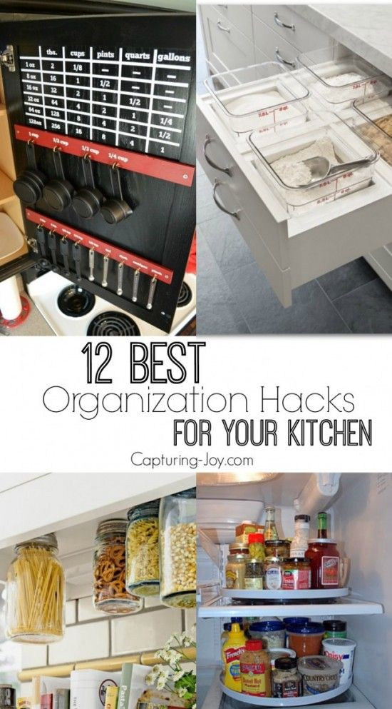 12 best Organization hacks for your kitchen. Tips and tricks for being more orga...
