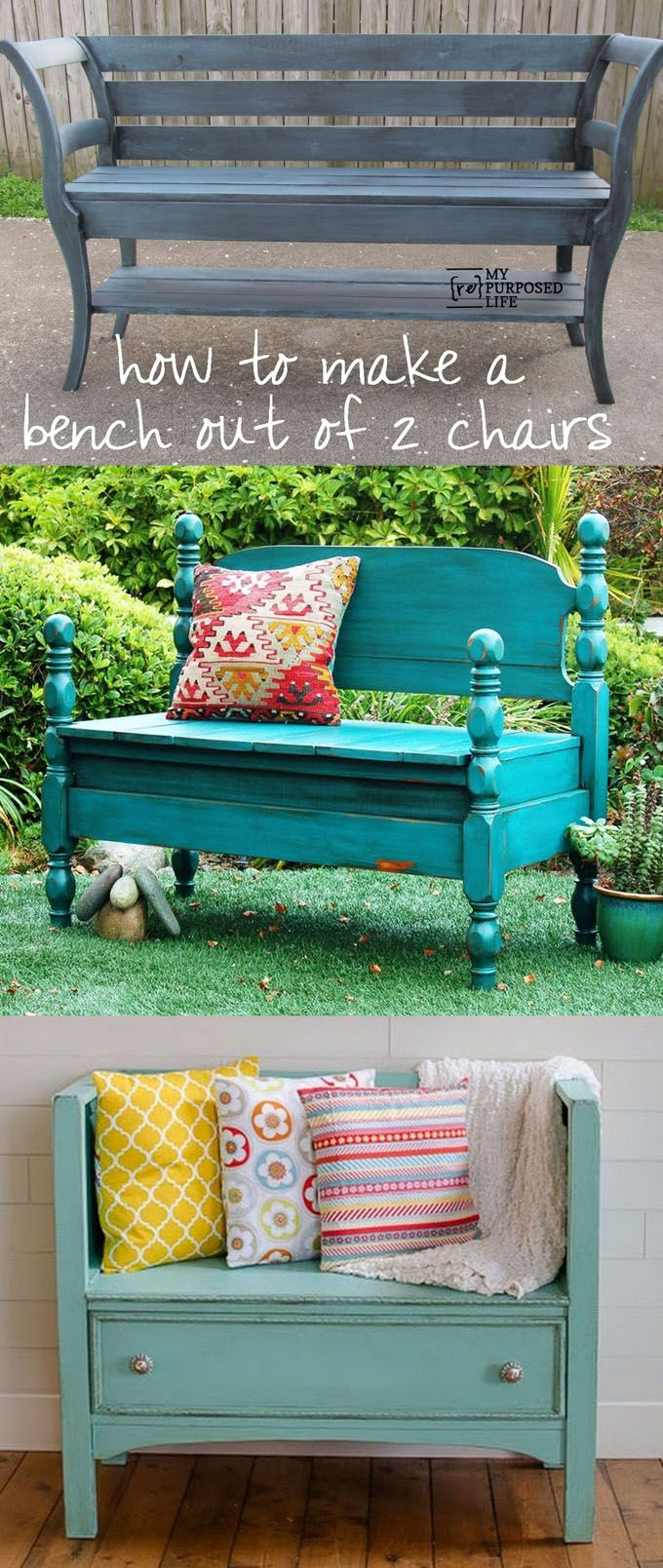 21 beautiful DIY benches for every room. Great tutorials on how to build benches...