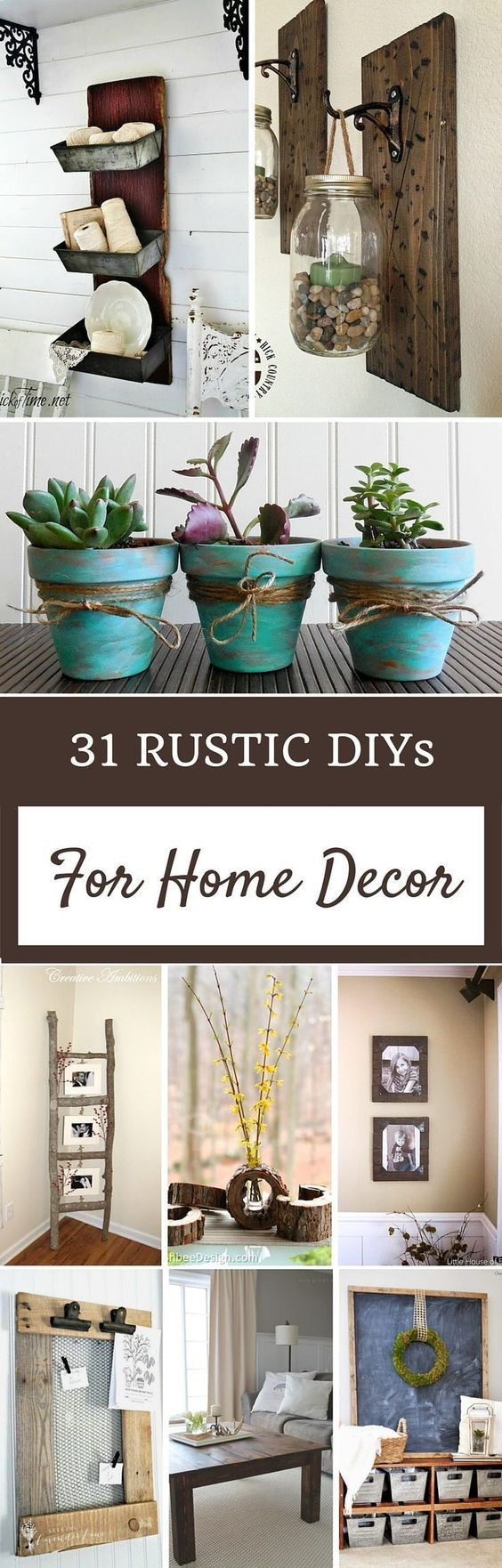 31 Rustic DIY Home Decor Projects Create these farmhouse cottage do it yourself ...