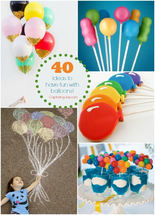 40 ideas with Balloons, ways to celebrate and have fun with your favorite party ...