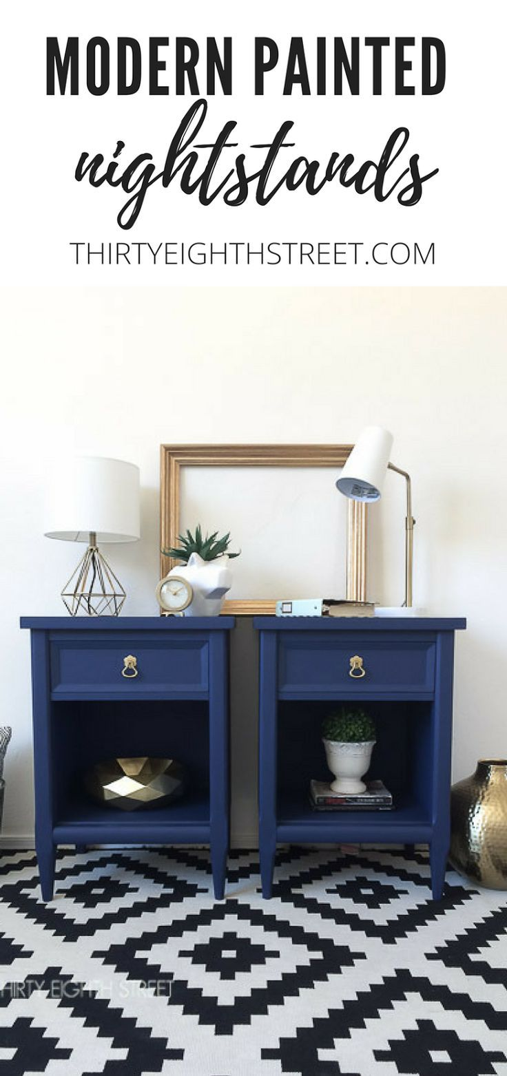 Diy Crafts 50 Nightstand Makeovers Modern Painted