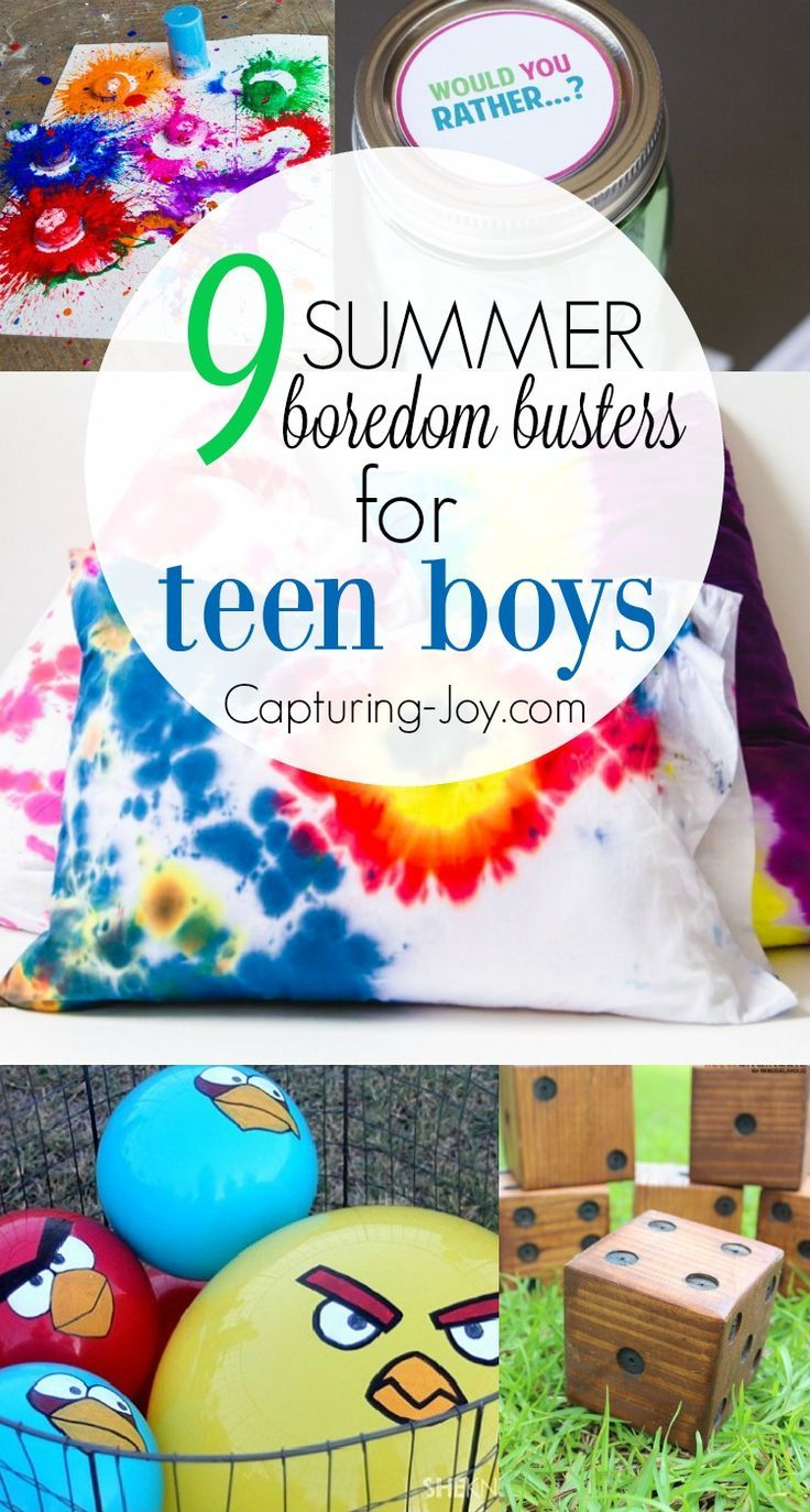 Diy Crafts 9 Summer Boredom Busters For Teen Boys Keep Kids