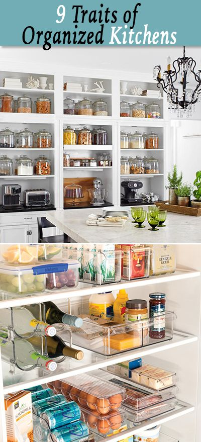 9 Traits of an Organized Kitchen • Lots of tips and ideas for organizing your ...