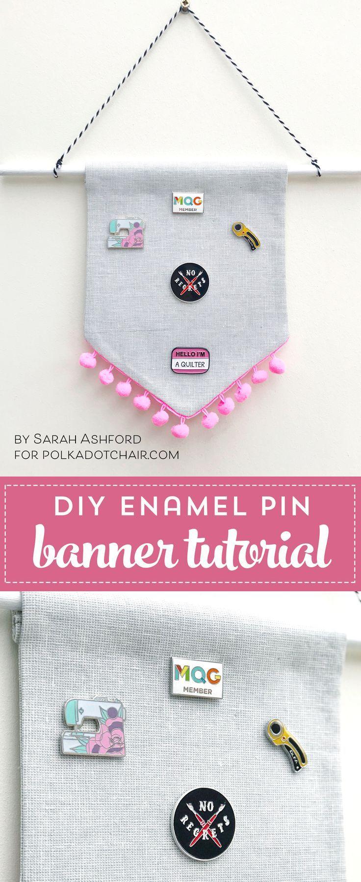 DIY Crafts : A great enamel pin display idea! Create a