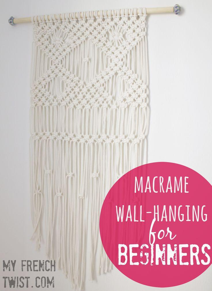 A macramé wall-hanging tutorial for beginners! @myfrenctwist.com. #macrameWallh...