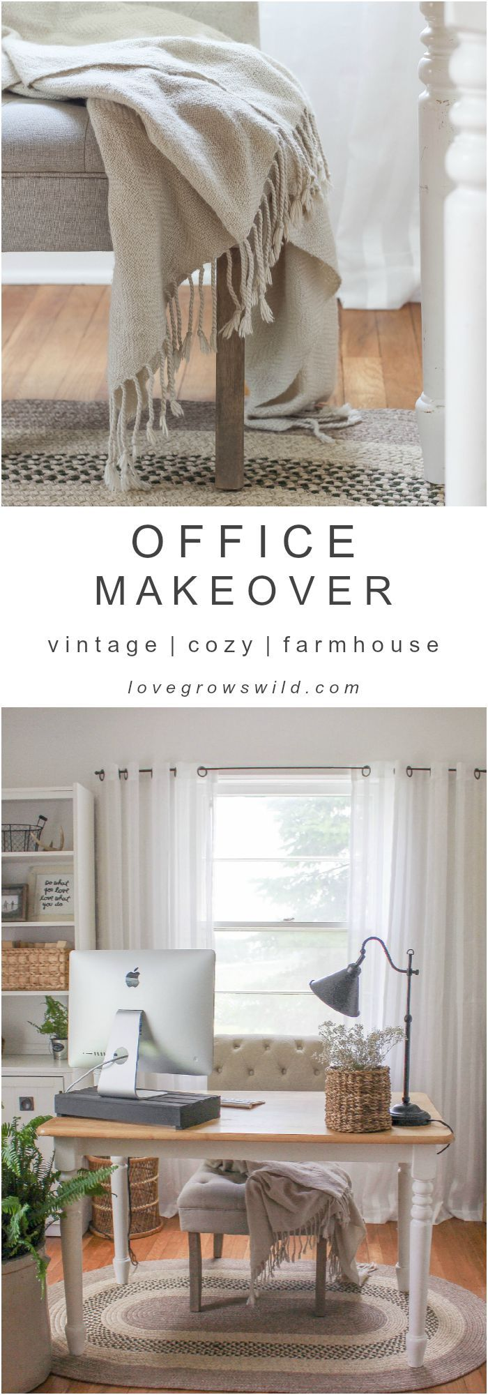 A must-see makeover! Check out the transformation of this gorgeous home office d...