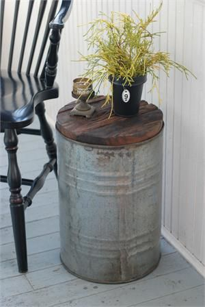 Add rustic, relaxed character to your farmhouse decor with this Salvaged Metal D...