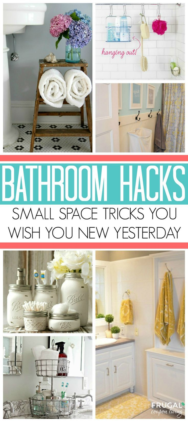 Bathroom Storage Ideas for Small Spaces; solutions for your everyday family. Bat...