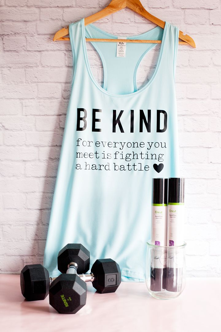 Be Kind for everyone you meet is fighting a hard battle workout shirt created wi...