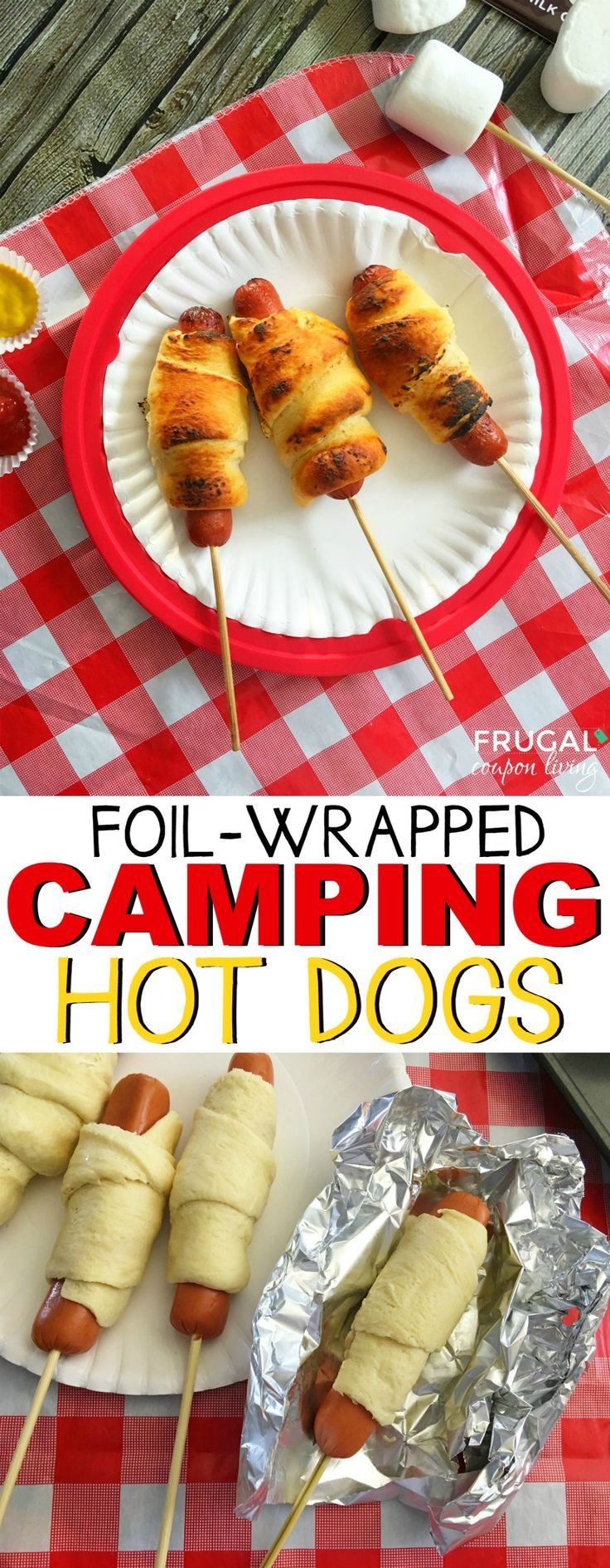 Camping Hot Dogs Recipe for the Campfire - Take these hot dogs to the backyard t...