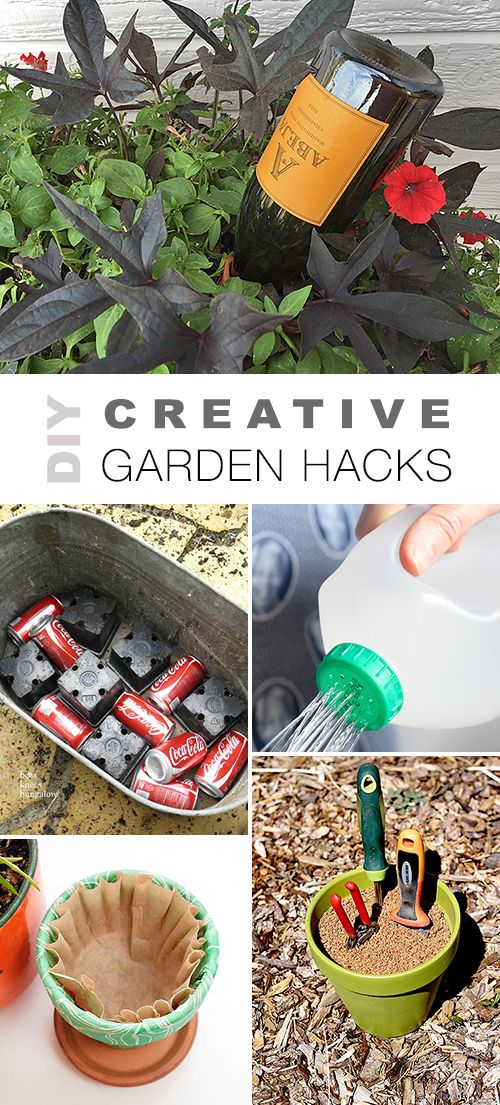 Check out all these DIY Creative Garden Hacks! • Lots of great ideas & tutoria...